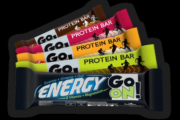 Batony proteinowe GO ON - doskonała przekąska o każdej porze dnia