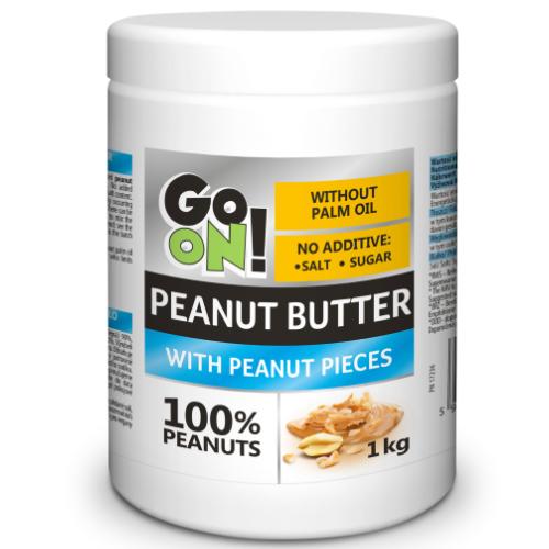 Masło orzechowe GO ON! z kawałkami orzechów 1kg