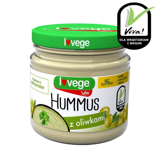 Hummus z oliwkami w słoiku 180g