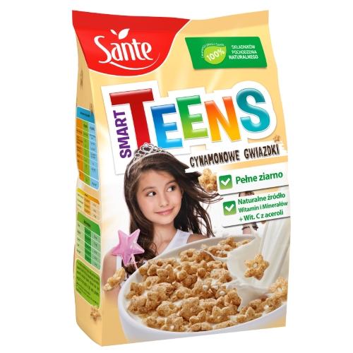 Płatki śniadaniowe Smart Teens gwiazdki cynamonowe 250g