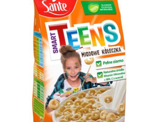 Płatki śniadaniowe Smart Teens kółeczka miodowe 250g