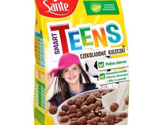 Płatki śniadaniowe Smart Teens czekoladowe kuleczki 250g