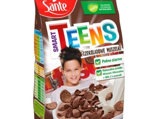 Płatki śniadaniowe Smart Teens muszelki czekoladowe 250g