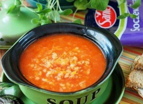 Zupa z czerwonej soczewicy z orientalną nutą