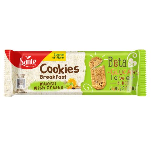 Ciasteczka śniadaniowe Cookies musli z owocami 50g