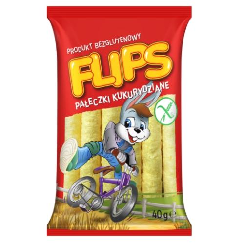 Pałeczki kukurydziane Flips 40g Sante