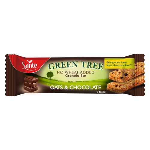Baton granola GREEN TREE z czekoladą 40g