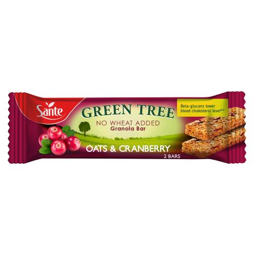 Baton granola GREEN TREE z żurawiną 40g