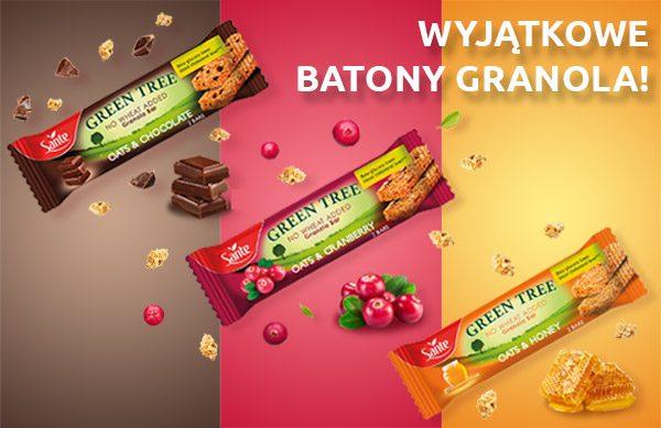 GREEN TREE – nowe batony granola od Sante