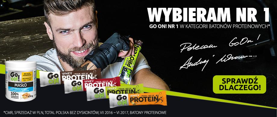 Andrzej Wrona batony proteinowe GO ON