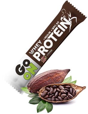 Baton proteinowy 20% GO ON! kakaowy 50g