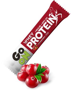 Baton proteinowy 20% GO ON! żurawinowy 50g