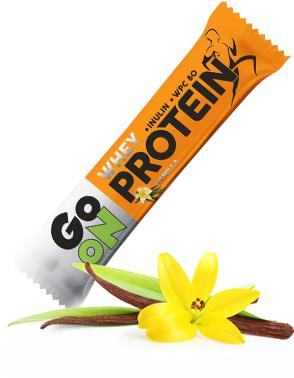 Baton proteinowy 20% GO ON! waniliowy 50g