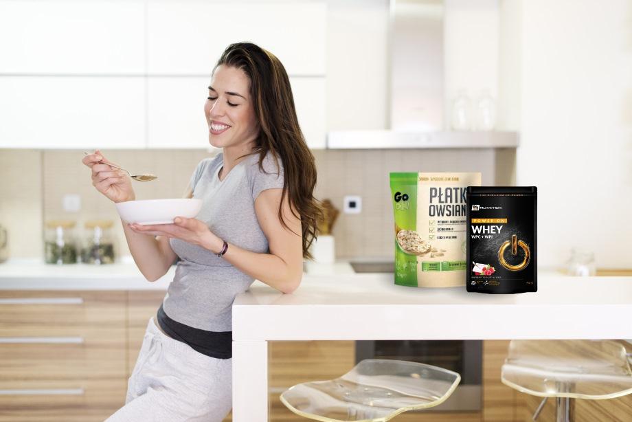 Białko serwatkowe GO ON Nutrition idealne na śniadanie