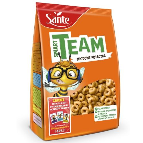 Płatki śniadaniowe Smart Team miodowe kółeczka 250g