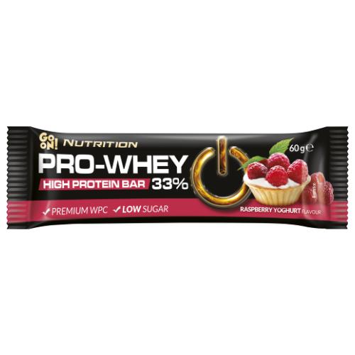 Baton proteinowy 33% GO ON Nutrition malinowo-jogurtowy 60g