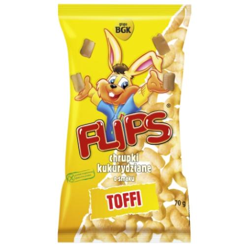 Flips chrupki kukurydziane o smaku Toffi 70g Sante