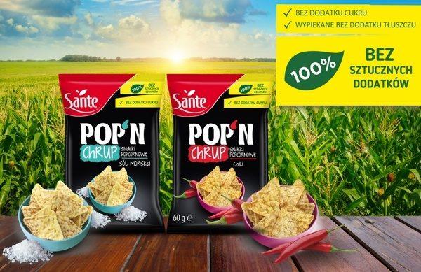 Snacki Popcornowe POP'N Chrup Sante